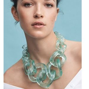 Lucite Necklace / Earring set from Anthropologie