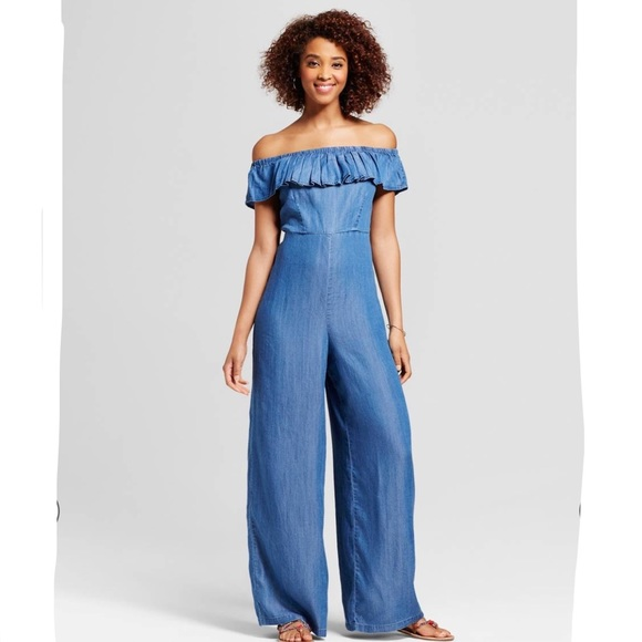 82bf72bfdd6db5 Women s Ruffle Off the Shoulder Jumpsuit