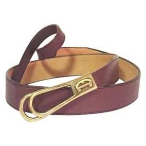 Etienne Aigner wine leather belt