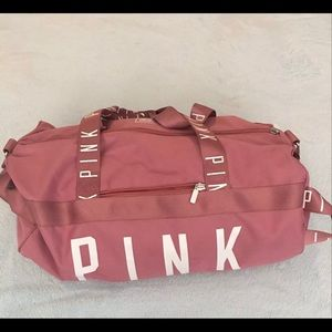 44fbf27e31 PINK Victoria s Secret Bags - Rare! VS Pink Soft Begonia Duffle Gym Bag EUC