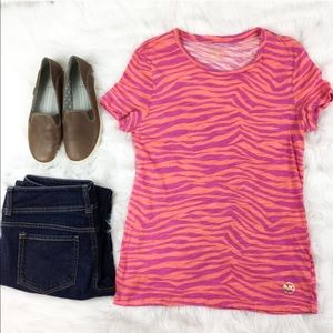 Michael Kors Pink & Purple Zebra T-Shirt