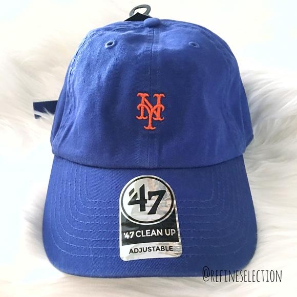 low priced 29930 4e1a0 New York Mets  47 Brand Clean Up Dad Hat Cap