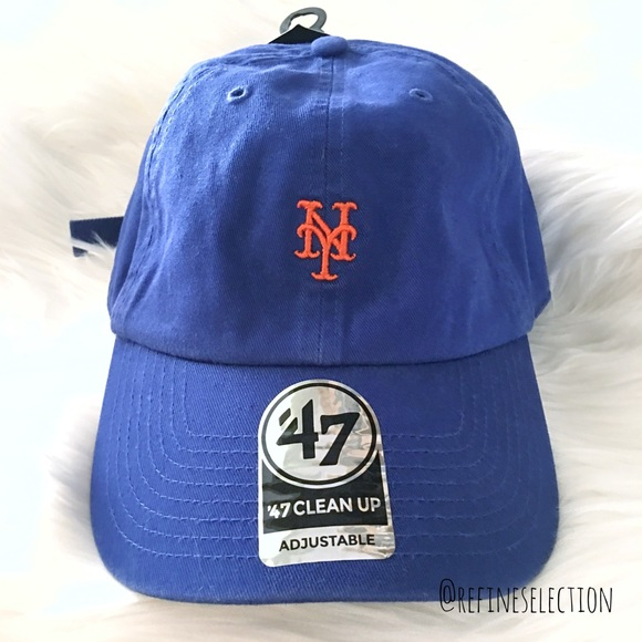 low priced 040a1 f3185 New York Mets  47 Brand Clean Up Dad Hat Cap