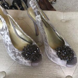 Lulu Lacey & Jeweled Heels