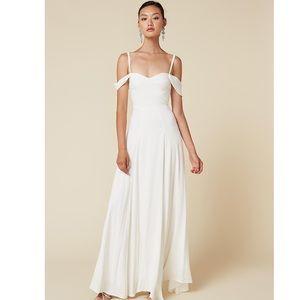 Reformation Poppy Dress in Ivory - Size 12, NWOT
