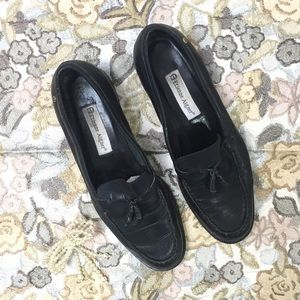 Etienne Aigner black leather loafers