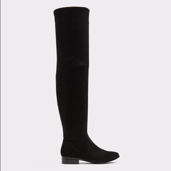 e1e3891d439 Aldo Shoes - Black ALDO Suede Thigh High Boots - SIZE 9