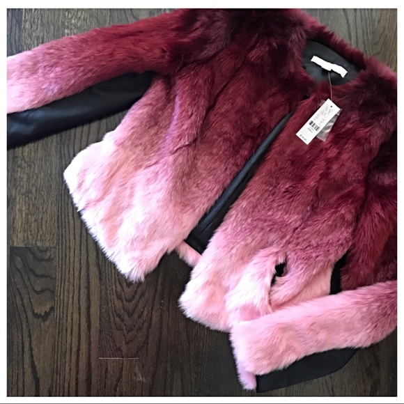 2a453af6f00 New York & Company Jackets & Coats | New York Co Ombr Faux Fur Coat ...