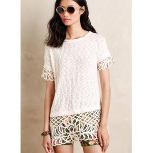 Anthropologie SaturdaySunday short sleeve lace top