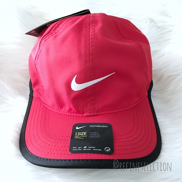 dcd971bc3e47f2 Nike Aerobill Featherlight Red Black Dad Hat Cap