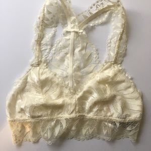 Aerie cream colored bralette size S NWT
