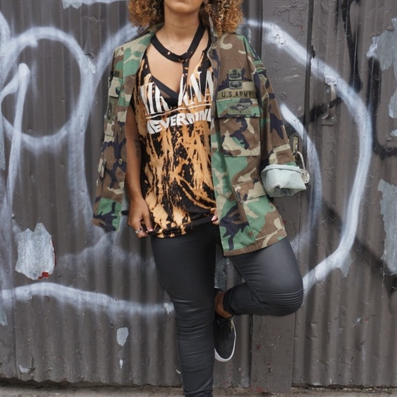 Vintage Jackets & Blazers - Oversized Army Jacket