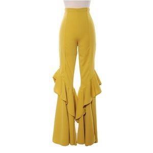 Wide Leg Frill Pants