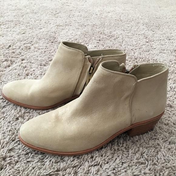 "a2a4505216b7 Sam Edelman ""Petty"" low heel ankle boot booties. M 59b475f9ea3f36e4aa01cdf4"