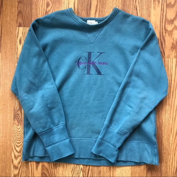 Vtg Calvin Klein Jeans Embroidered sweatshirt