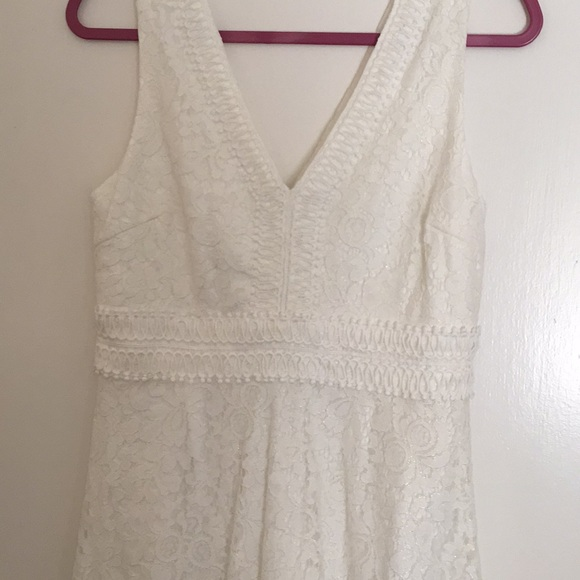 francescas white lace bridal shower dress