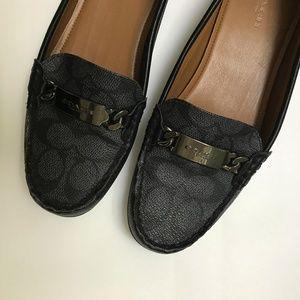 95a9dc0f708 Coach Shoes - Coach Smoke Black Olive Loafer Signature Flats