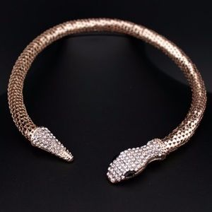 Gold or silver serpenti necklace