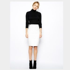 Genuine leather! ASOS white skirt. Worn once!