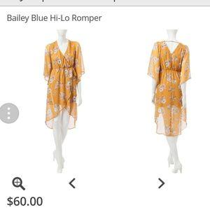 Bailey Blue Hi-Lo Romper