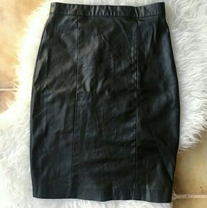 Topshop Faux Leather Pencil Skirt Size 4