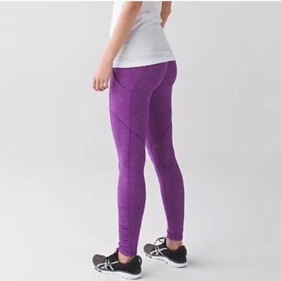 fff401330bf807 lululemon athletica Pants - Lululemon Speed Tight Pique Purple Lulu Leggings