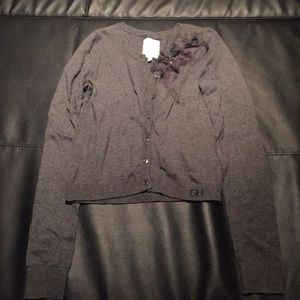 Gilly Hicks gray cardigan with embellishment