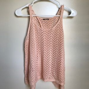 Tops - Crochet tank top with slit back