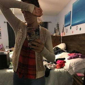 Urban outfitters sequined cardigan