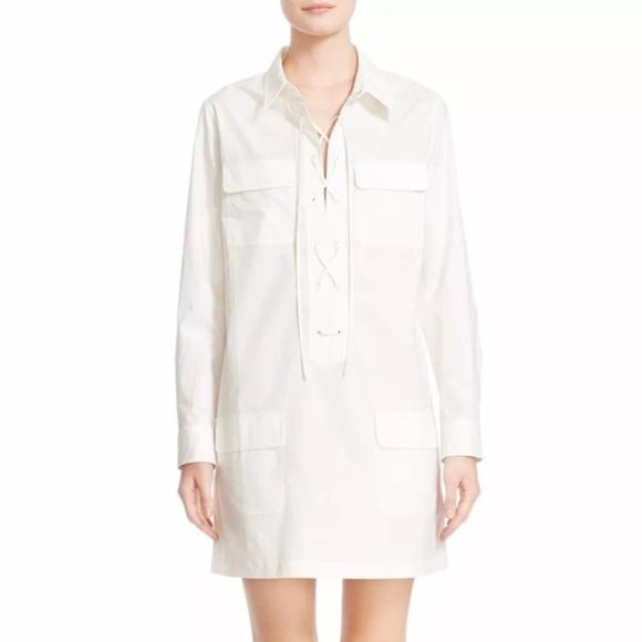 2d2a20a9598 Equipment Dresses   Skirts - Equipment Femme Knox Corset Tie Shirtdress