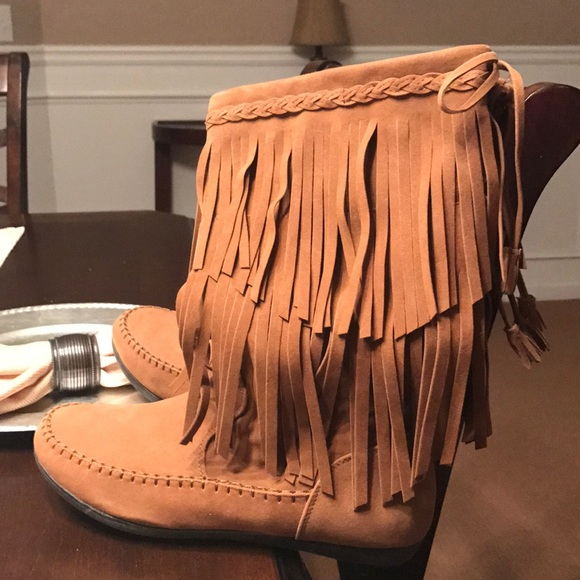 Rampage Shoes Fringe Boots From Belk Poshmark