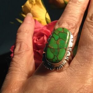 Jewelry - Sterling Silver Mojave Green Turquoise Ring