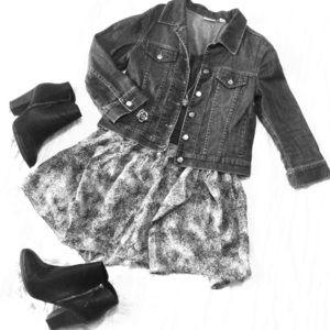 Geren Ford silk skirt: black and white