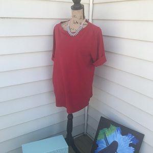 Red Boatneck Tshirt