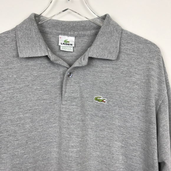 bd28cbb1 [Lacoste] Long Sleeve Polo Shirt Men's Gray Size 5