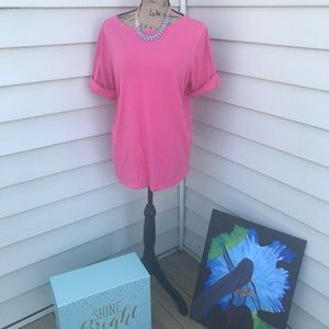 Pink Boatneck TShirt