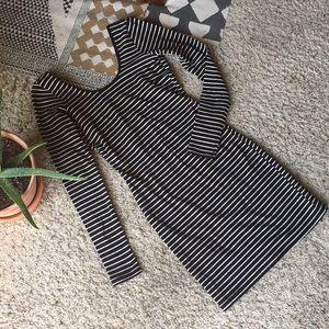 🌊 American Apparel Long-Sleeved Scoop Back Dress