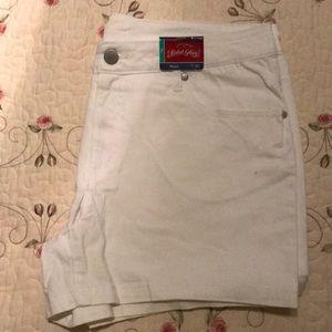 New White denim shorts