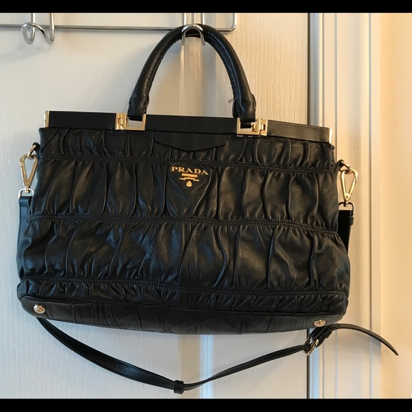 e72cd3ecf8a3 Prada Bags | Leather Nappa Gaufre Handbag | Poshmark
