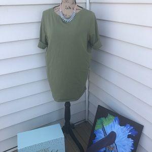 Green Boatneck Tshirt