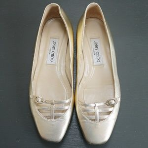 Jimmy Choo Flats Gold Size EU 37.5 / US 7.5