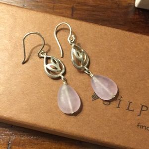 Silpada sterling and amethyst earrings.
