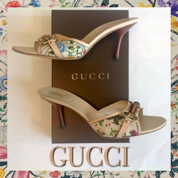 3bb171926 Gucci Shoes - Rare Authentic Gucci flora bamboo bit slide 🌺💐