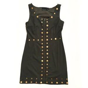 Cynthia Rowley Olive Green Zip Dress Size Medium
