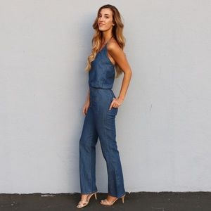 RESTOCKED chambray jumpsuit