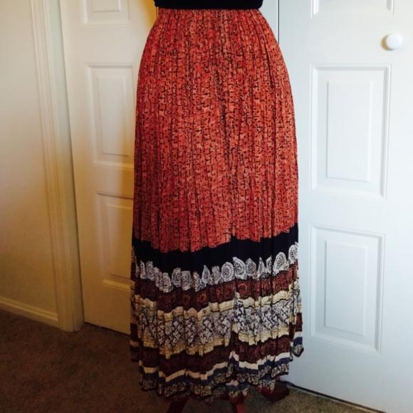 e372f0c0a7b Jane Ashley Dresses   Skirts - Plus size Boho broom stick skirt with beaded  trim