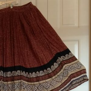 cc9d7b8251e Jane Ashley Skirts - Plus size Boho broom stick skirt with beaded trim