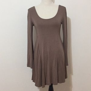 Dresses & Skirts - Soft taupe bell sleeve dress