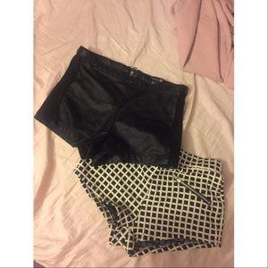 Pants - STYLISH feminine shorts!💕 Lot of 2! XS!!❤❤