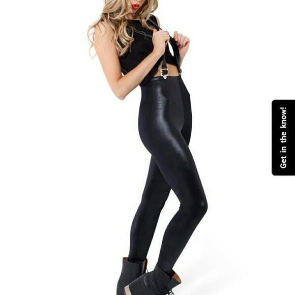 bbd4db65c40a29 Blackmilk Pants | Wet Look High Waisted Overall Leggings | Poshmark